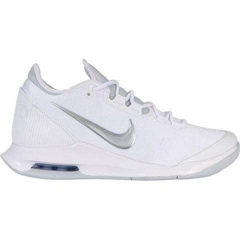 Nike Air Max Wildcard Women's Tennis Shoe (White/Silver) - RacquetGuys