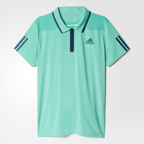 adidas Men's Barricade Polo (Mint Green/Navy)