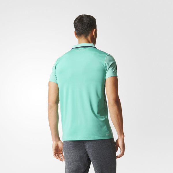 adidas Men's Barricade Polo (Mint Green/Navy) - RacquetGuys