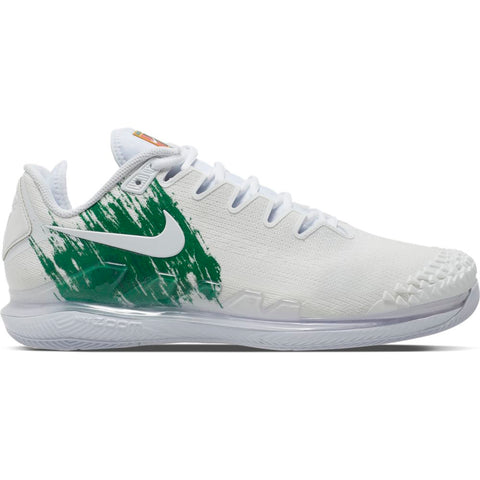 Nike Air Zoom Vapor X Knit Men's Tennis Shoe (White/Green) - RacquetGuys