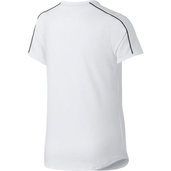Nike Girl's Dri-Fit Top (White/Black) - RacquetGuys.ca