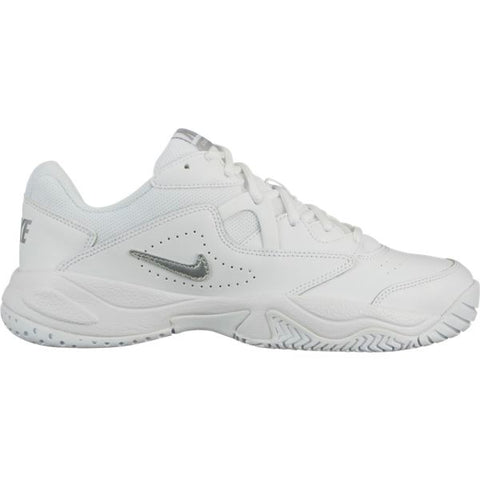 Nike Court Lite 2 Women's Tennis Shoe (White/Silver) - RacquetGuys