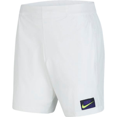 Nike Men's Dri-Fit Shorts (White/Volt) - RacquetGuys
