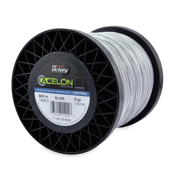 Acelon Advanced Copoly 16 Tennis String Large Reel (Silver) - RacquetGuys