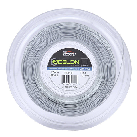 Acelon Advanced Copoly 17 Tennis String Reel (Silver) - RacquetGuys.ca