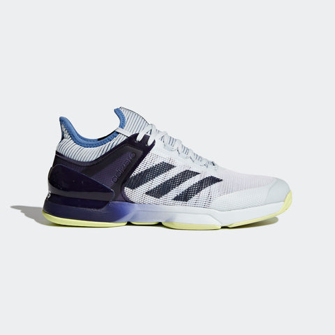 adidas Adizero Ubersonic 2 Men's Tennis Shoe (White/Blue/Yellow) - RacquetGuys