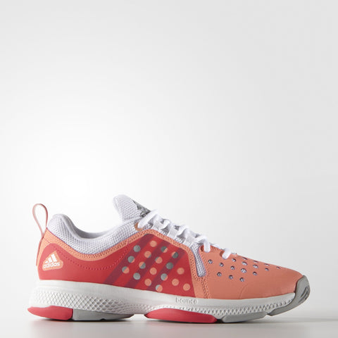 adidas Barricade Classic Bounce Women's Tennis Shoe (Orange/Red/Silver) - RacquetGuys