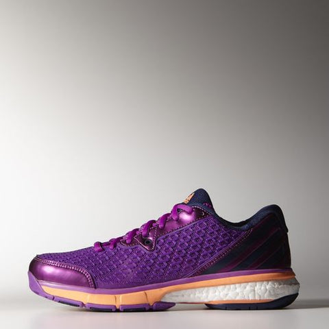 adidas Energy Boost Women's Indoor Court Shoe (Purple/Orange) - RacquetGuys.ca