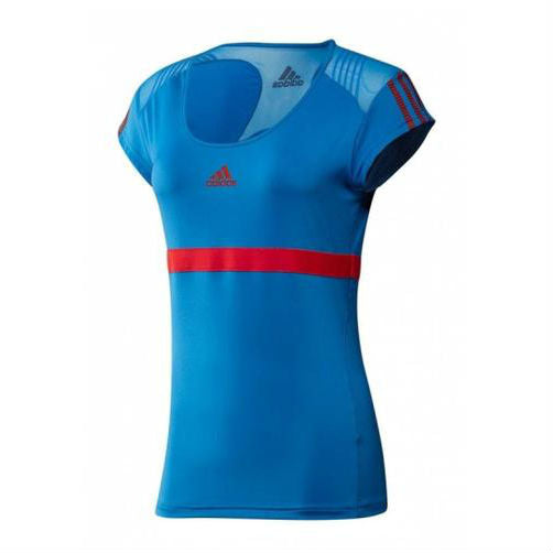 adidas Women's Barricade Top (Bright Blue/Core Energy) - RacquetGuys