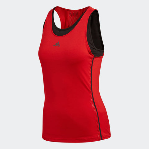 adidas Women's Barricade Tank Top (Red/Black) - RacquetGuys