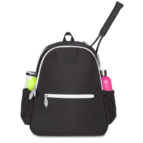 Ame & Lulu Courtside Black Backpack Racquet Bag - RacquetGuys