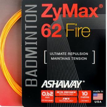 Ashaway ZyMax 62 Fire Badminton String (Orange)