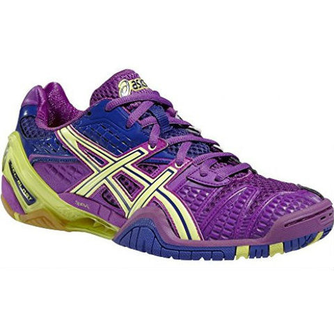 Asics Gel Blast 5 Womens Indoor Court Shoe (Purple/Lime/Clematis) - RacquetGuys