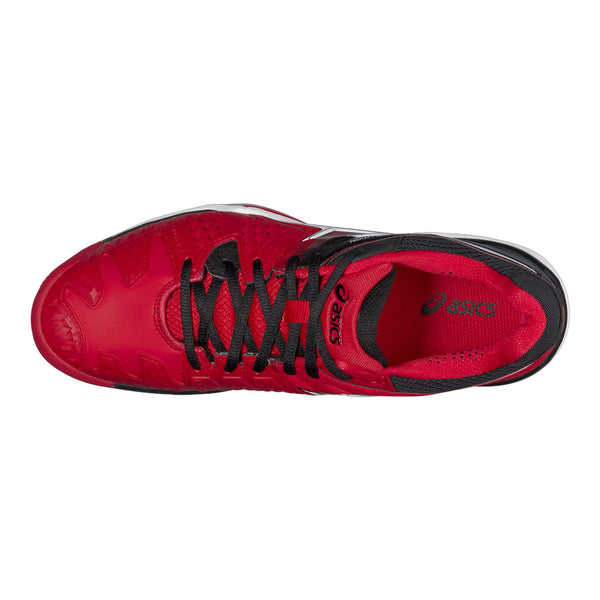 Asics Gel Resolution 6 Mens Clay Court Tennis Shoe (Red/Black/White) - RacquetGuys