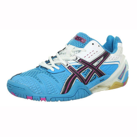 Asics Gel Blast 5 Women's Indoor Court Shoe (Blue/Black/White) - RacquetGuys.ca