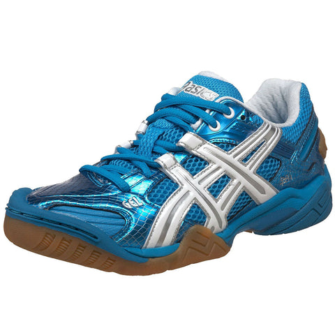 Asics Gel Domain 2 Women's Indoor Court Shoe (Blue/White) - RacquetGuys.ca