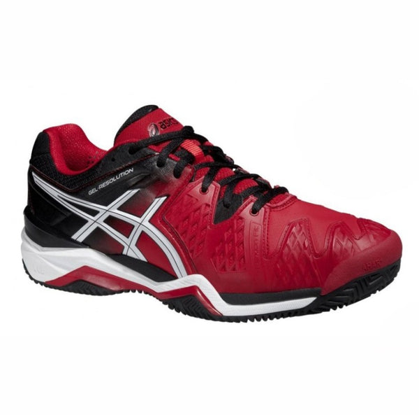 Asics Gel Resolution 6 Mens Clay Court Tennis Shoe (Red/Black/White)