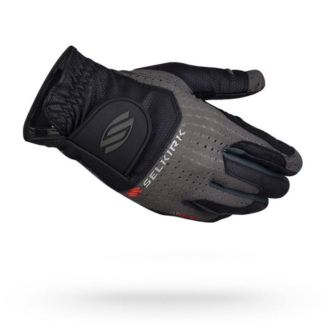 Selkirk Attaktix Premium Pickleball Glove - Men's Right Hand (Black/Grey) - RacquetGuys