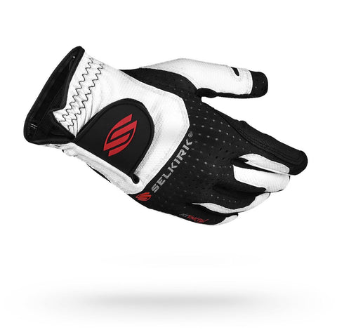 Selkirk Attaktix Premium Pickleball Glove - Men's Right Hand (White/Black) - RacquetGuys