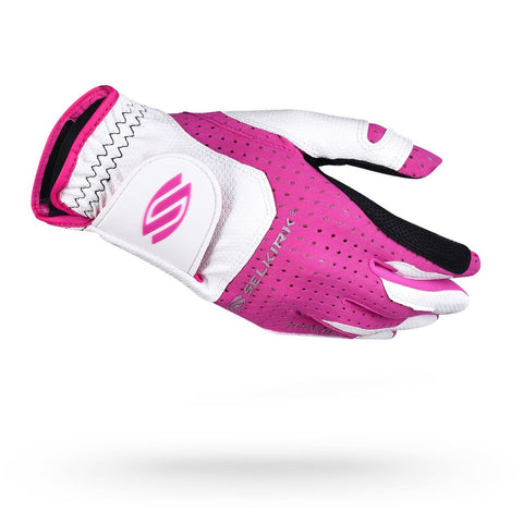 Selkirk Attaktix Premium Pickleball Glove - Women's Right Hand (White/Pink) - RacquetGuys
