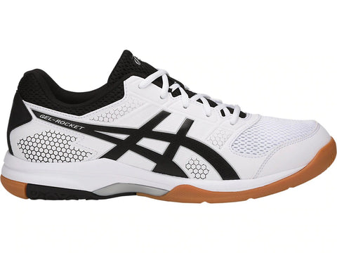 Asics Gel Rocket 8 Mens Indoor Court Shoe (White/Black/Silver)