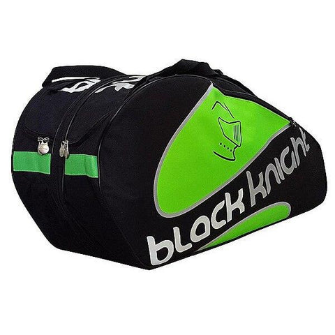 Black Knight Triple Expandable Racquet Bag (Black/Green) - RacquetGuys.ca