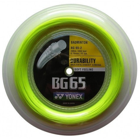Yonex BG 65 Badminton String Reel (Yellow) - RacquetGuys