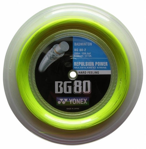 Yonex BG 80 Badminton String Reel (Yellow) - RacquetGuys