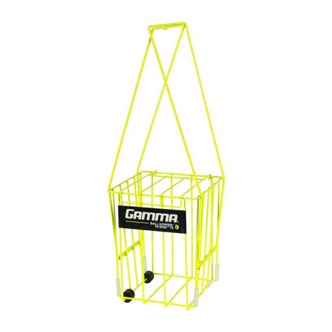 Gamma Ball Hopper Hi-Rise 75 with Wheels (Yellow) - RacquetGuys.ca
