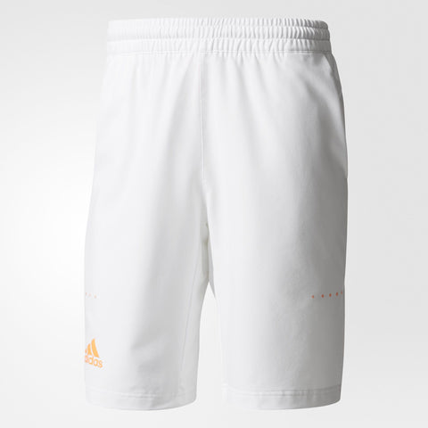 adidas Men's Barricade Bermuda Shorts (White/Yellow) - RacquetGuys