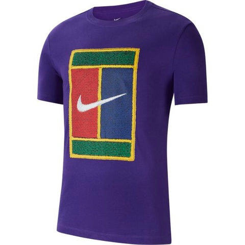 Nike Men's NikeCourt Heritage T-Shirt (Purple) - RacquetGuys