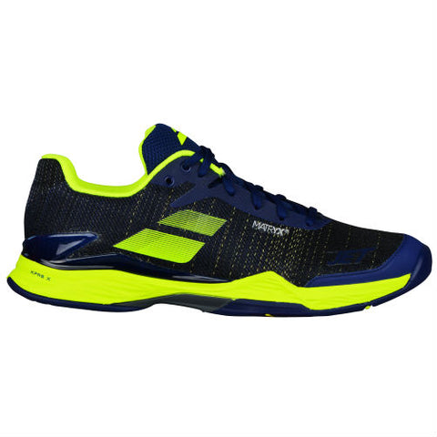 Babolat Jet Mach II Mens Tennis Shoe (Blue/Yellow) - RacquetGuys