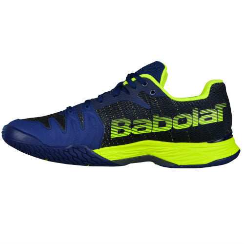 Babolat Jet Mach II Men's Tennis Shoe (Blue/Yellow) - RacquetGuys
