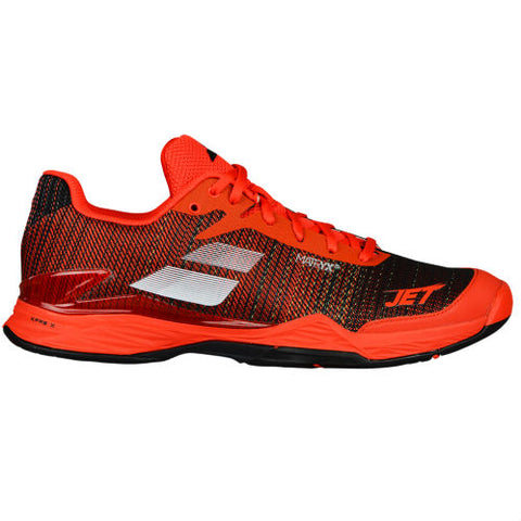 Babolat Jet Mach II Mens Tennis Shoe (Orange/Black) - RacquetGuys