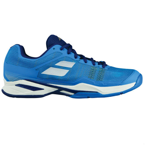 Babolat Jet Mach I Men's Clay Court Tennis Shoe (Blue/White) - RacquetGuys
