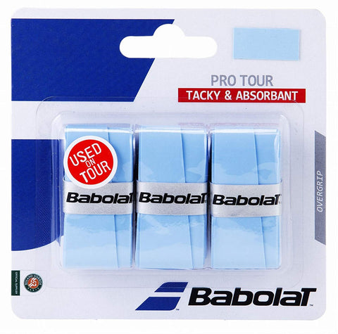 Babolat Pro Tour Overgrip 3 Pack (Blue) - RacquetGuys