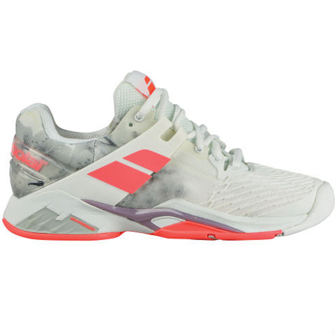 Babolat Propulse Fury AC Womens Tennis Shoe (White/Pink) - RacquetGuys