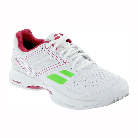 Babolat Pulsion BPM AC Women's Tennis Shoe (White/Pink) - RacquetGuys