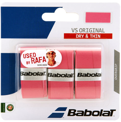 Babolat VS Original Overgrip 3 Pack (Pink) - RacquetGuys