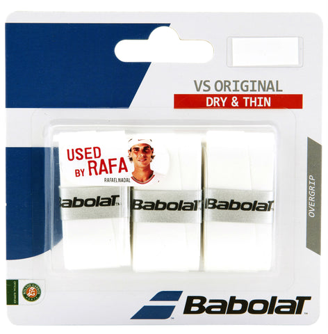 Babolat VS Original Overgrip 3 Pack (White) - RacquetGuys