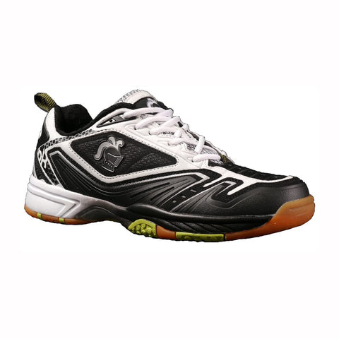 Black Knight Reactor Mens Indoor Court Shoe (Black/White) - RacquetGuys