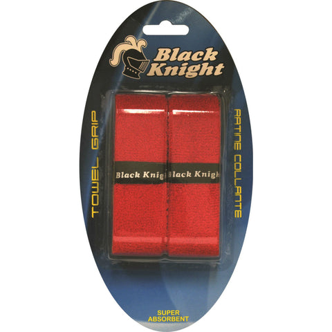 Black Knight Towel Replacement Grip 2 Pack (Red) - RacquetGuys