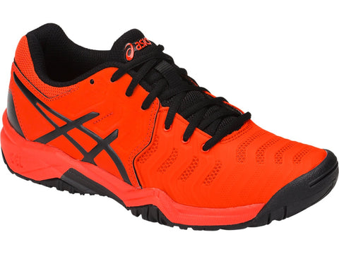 Asics Gel Resolution 7 Gs Junior Tennis Shoe (Red/Black)