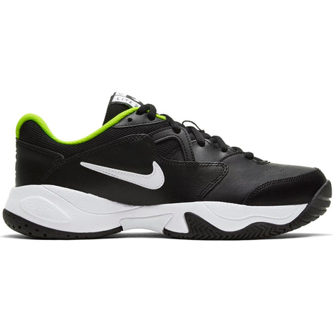 Nike Court Lite 2 Junior Tennis Shoe (Black/White) - RacquetGuys.ca