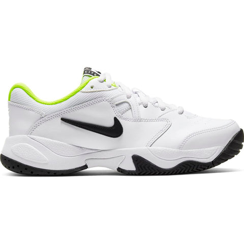 Nike Court Lite 2 Junior Tennis Shoe (White/Black/Green) - RacquetGuys.ca