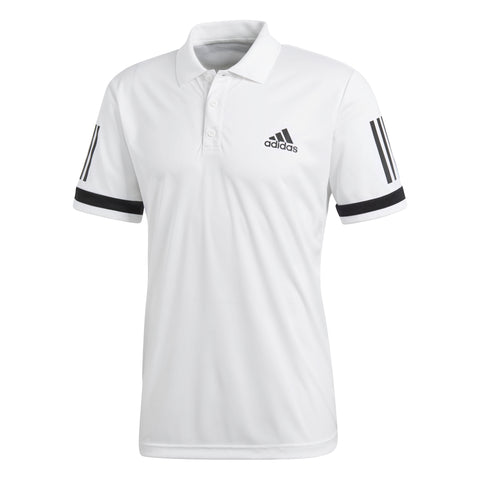 adidas Men's 3 Stripes Club Polo - RacquetGuys