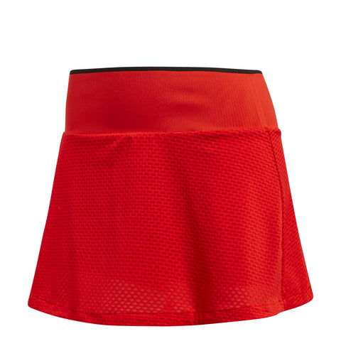 adidas Women's Barricade Skirt (Red) - RacquetGuys