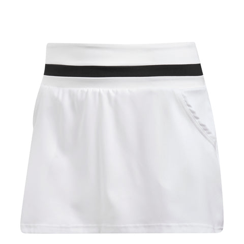 adidas Women's Club Skirt (White/Black) - RacquetGuys