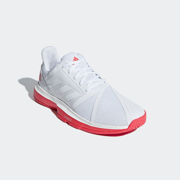 adidas CourtJam Bounce Men's Tennis Shoe (White/Red)
