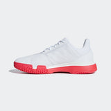 adidas CourtJam Bounce Men's Tennis Shoe (White/Red) - RacquetGuys